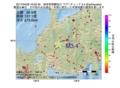 地震震源マップ:2017年04月28日 16時03分 岐阜県飛騨地方 M3.4