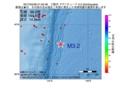 地震震源マップ:2017年04月28日 21時55分 三陸沖 M3.2