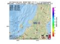 地震震源マップ:2017年05月04日 06時15分 新潟県下越沖 M2.9