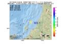 地震震源マップ:2017年05月06日 19時56分 新潟県下越沖 M3.1