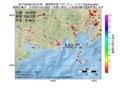 地震震源マップ:2017年05月06日 20時43分 静岡県中部 M2.7
