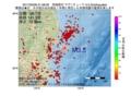 地震震源マップ:2017年05月06日 21時08分 茨城県沖 M3.5
