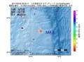 地震震源マップ:2017年05月06日 23時23分 八丈島東方沖 M4.9