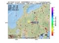 地震震源マップ:2017年05月07日 16時10分 岐阜県飛騨地方 M2.8