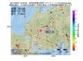 地震震源マップ:2017年05月07日 16時42分 岐阜県美濃中西部 M2.6
