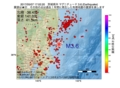 地震震源マップ:2017年05月07日 17時02分 茨城県沖 M3.6