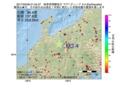 地震震源マップ:2017年05月08日 01時34分 岐阜県飛騨地方 M3.4