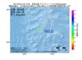 地震震源マップ:2017年05月10日 04時12分 鳥島近海 M5.0