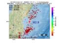 地震震源マップ:2017年05月10日 20時41分 宮城県沖 M2.9