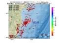 地震震源マップ:2017年05月10日 20時41分 福島県沖 M3.6
