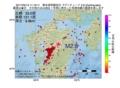 地震震源マップ:2017年05月13日 11時16分 熊本県阿蘇地方 M2.8