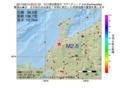 地震震源マップ:2017年05月13日 20時31分 石川県加賀地方 M2.6