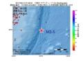 地震震源マップ:2017年05月14日 07時46分 三陸沖 M3.5