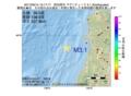 地震震源マップ:2017年05月14日 15時17分 秋田県沖 M3.1