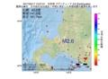 地震震源マップ:2017年05月17日 15時27分 石狩湾 M2.6