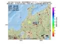 地震震源マップ:2017年05月17日 20時42分 岐阜県飛騨地方 M2.7