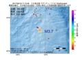 地震震源マップ:2017年05月18日 11時13分 八丈島近海 M3.7