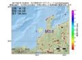 地震震源マップ:2017年05月19日 19時28分 石川県西方沖 M3.6