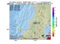 地震震源マップ:2017年05月23日 19時03分 新潟県下越沖 M2.9