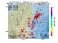 地震震源マップ:2017年05月24日 06時58分 茨城県北部 M2.8