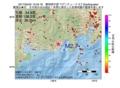 地震震源マップ:2017年05月24日 13時34分 静岡県中部 M2.7