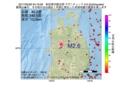 地震震源マップ:2017年05月26日 04時19分 秋田県内陸北部 M2.6