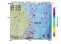 地震震源マップ:2017年05月31日 01時04分 岩手県沖 M3.6