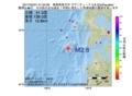 地震震源マップ:2017年05月31日 01時34分 青森県西方沖 M2.8