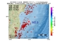 地震震源マップ:2017年05月31日 11時44分 福島県沖 M2.5