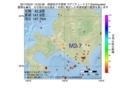 地震震源マップ:2017年05月31日 12時02分 胆振地方中東部 M2.7