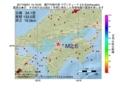 地震震源マップ:2017年06月01日 15時19分 瀬戸内海中部 M2.6
