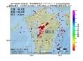 地震震源マップ:2017年06月04日 23時28分 熊本県熊本地方 M3.3