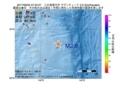 地震震源マップ:2017年06月05日 07時34分 八丈島東方沖 M2.9