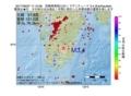 地震震源マップ:2017年06月07日 11時10分 宮崎県南部山沿い M3.4