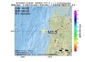 地震震源マップ:2017年06月07日 15時02分 秋田県沖 M3.3