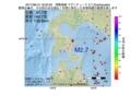 地震震源マップ:2017年06月10日 18時02分 津軽海峡 M2.7