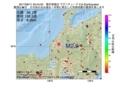地震震源マップ:2017年06月11日 05時44分 福井県嶺北 M2.9
