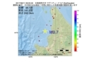 地震震源マップ:2017年06月11日 09時03分 北海道西方沖 M3.7