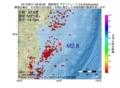 地震震源マップ:2017年06月11日 09時26分 福島県沖 M2.8