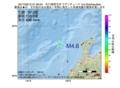 地震震源マップ:2017年06月12日 21時39分 石川県西方沖 M4.6