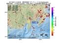 地震震源マップ:2017年06月14日 16時38分 静岡県東部 M2.9