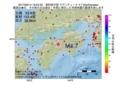 地震震源マップ:2017年06月14日 19時24分 高知県中部 M4.7