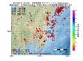 地震震源マップ:2017年06月15日 12時43分 茨城県南部 M2.7