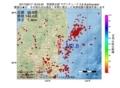 地震震源マップ:2017年06月17日 16時53分 茨城県北部 M2.8