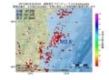 地震震源マップ:2017年06月18日 00時00分 福島県沖 M2.5