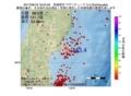 地震震源マップ:2017年06月18日 18時24分 宮城県沖 M3.4