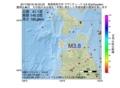 地震震源マップ:2017年06月18日 20時05分 青森県西方沖 M3.8