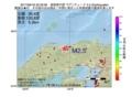 地震震源マップ:2017年06月18日 22時33分 鳥取県中部 M2.5