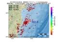 地震震源マップ:2017年06月18日 23時28分 福島県沖 M2.6