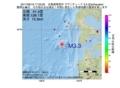 地震震源マップ:2017年06月19日 17時23分 北海道南西沖 M3.3